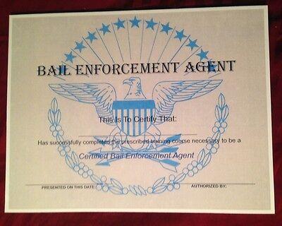 Bail Enforcement Certificate