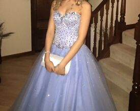 Powder Blue Prom Dress- SIZE UK 6