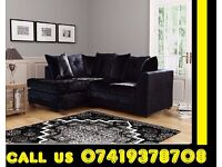 DOI CRUSH VELVET SOFA 3 AND 2 SEATER SOFA OR CORNER SOFA