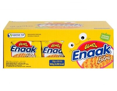 GEMEZ Enaak Extra Noodle Snack Chicken Flavour 900g(30g x 30p) Box Package