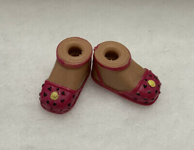 "Girlz Girlz Bratz Kidz 7"" Yasmin Doll Pink Polka dot Flower MaryJane Shoes"