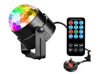 Disco Ball Rotating Party LED Lights - 7 Colours - Music Mode - Remote Control - DJ's Karaoke