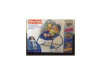 Fisher Price Infant to Toddler Rocker Baby Bouncer, Toy Bar Vibrates NEW