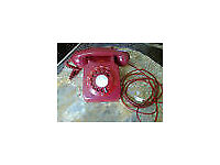 Vintage Rotary Dial RED - GPO telephone - model 746 GNA