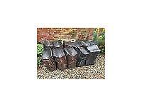 160 new/unused matt black norfolk pantiles