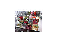 LARGE SELECTION OF YANKEE CANDLES, 7 VOTIVE & 8 WAX TARTS
