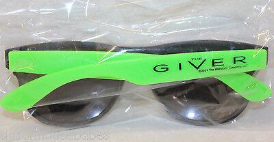 The GIVER - Movie PROMO Sunglasses - BLACK / GREEN - Thwaites - Bridges - NEW