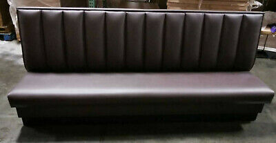 High Quality Restaurant Wall Bench Channel Back 42 High Back In Any Length
