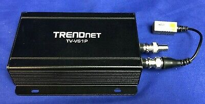 Trendnet Tv-vs1p Single Channel Poe Analog To Ip Video Encoder - Pre Owned