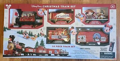 Disney Parks 30 Piece Mickey & Friends Christmas Train Set Works Great Rare