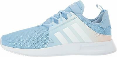 adidas Originals Kids Girl's X_PLR (Big Kid), White/Sky Blue, Size 5.0 BjSp