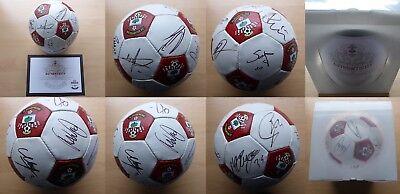 2014-15 Southampton Squad Signed Football - Official COA & Gift Box (11692)