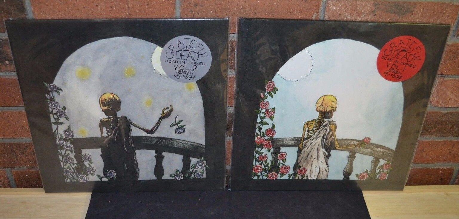 THE GRATEFUL DEAD - Dead In Cornell Vol 1 & 2 4LP Set BLACK VINYL New!