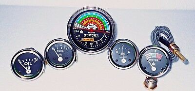 Ih Farmall 460 560 Gasdiesel Tachometertempoil Pressureampere Fuel Gauge
