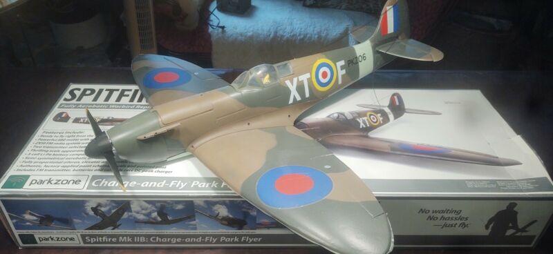 "Parkzone Spitfire Mk IIB Park Flyer Airplane Model Kit—39.5"" Wingspan! Remote"