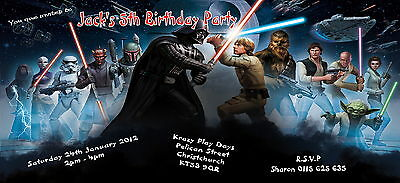 Personalised Childs Birthday Party invitations/invites ~Star Wars