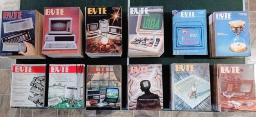 Vintage Byte Magazines--Issues from the first ten years (1975 - 1985)