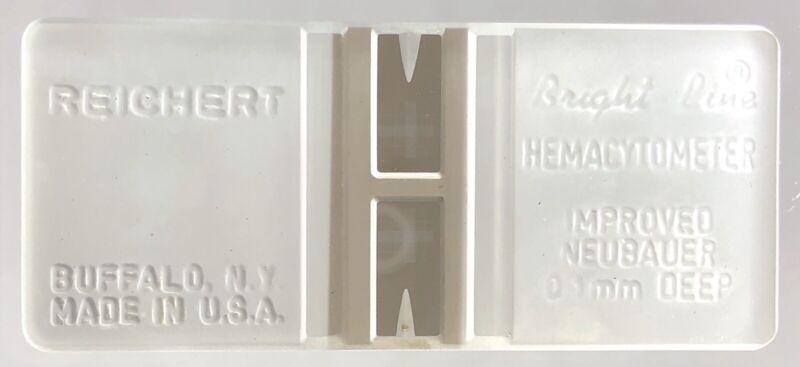 HAUSSER SCIENTIFIC RIECHERT BRIGHT-LINE IMPROVED NEUBAUER 0.1mm HEMACYTOMETER