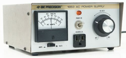 BK PRECISION 1653 ISOLATED VARIABLE AC POWER SUPPLY 0-140 VAC - TESTED
