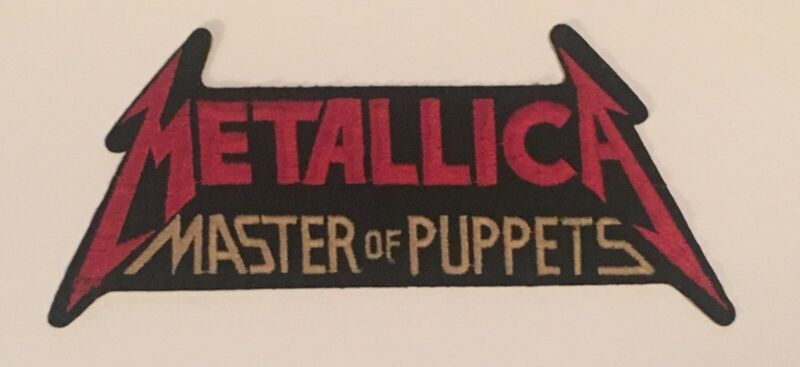 Vintage Metallica Master of Puppets Sew/ Iron-on Embroidered Band Logo Patch