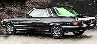 MERCEDES C107 (W107) COUPE SLC 107 1971-81 HECKSCHEIBE Rear Window grün heizbar