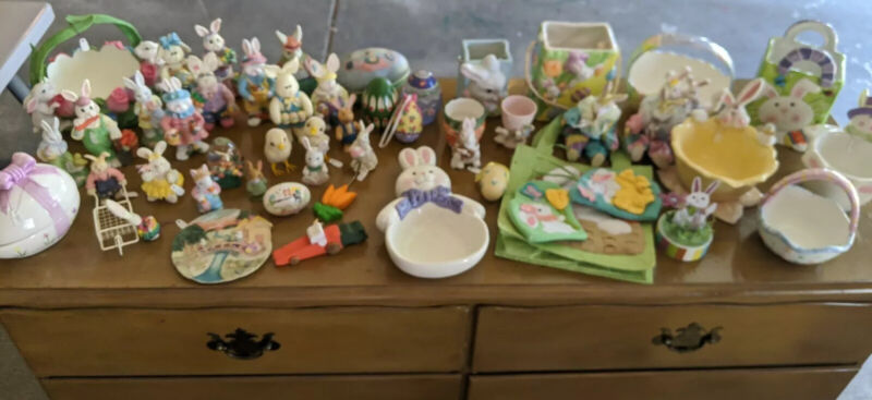 Lot Of Over 50 Easter Figurines
