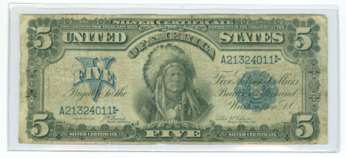 1899 $5 Indian Chief Silver Certificate Fr 271 *Possible Pre-Star Replacement*