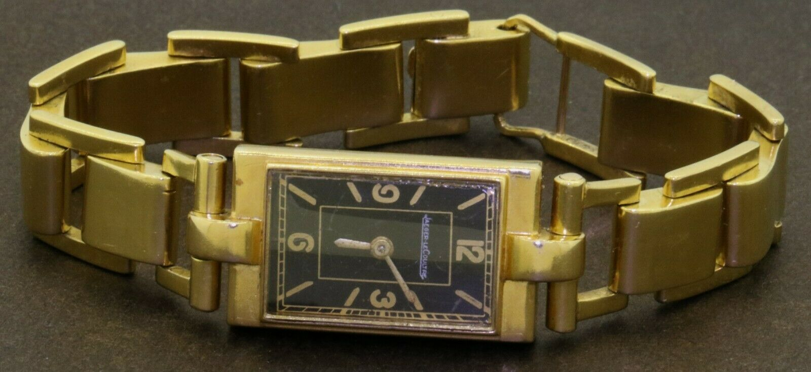 Jaeger LeCoultre Art Deco antique heavy 18K YG backwinding ladie's watch