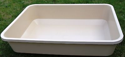 GIANT VERY LARGE Cat Litter Tray XL 55 x 42cm High Deep 13cm Sides & FREE Cat To