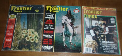 VINTAGE FRONTIER TIMES MAGAZINES - LOT OF 3 - THE TRUE WEST - 1969 - 1970 - 1985