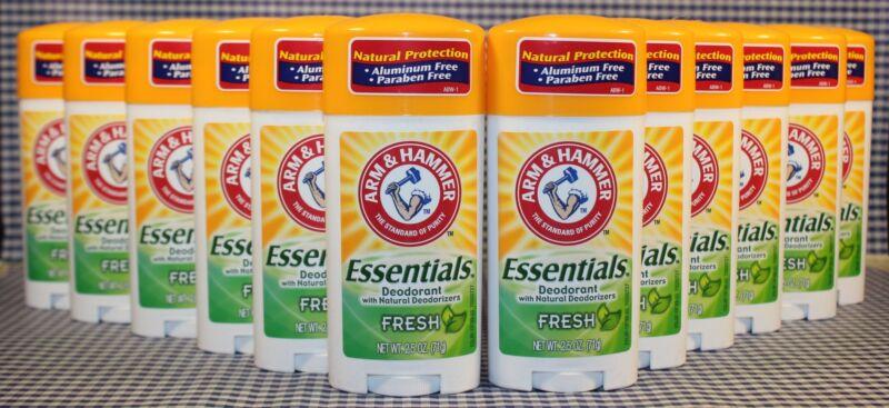 12 Arm & Hammer FRESH ESSENTIALS Deodorant Natural Deodorizers PARABEN FREE