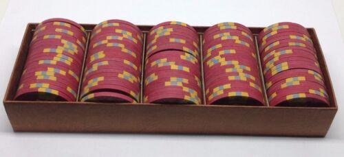 Set of 100 Aladdin $5 Casino Chips Las Vegas Nevada 1970 Nevada Mold *