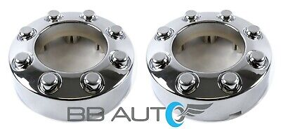 NEW FOR 2005-2018 FORD F250 F350 SRW FRONT 4X4 OPEN CHROME WHEEL CENTER CAP PAIR