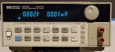 Agilent Hp 66312a Dynamic Measurement Dc Source Power Supply 0-20v 2a