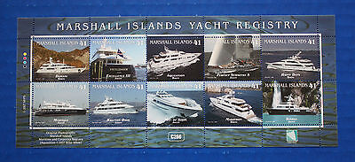 Marshall Islands (#902) 2007 Yacht Registry MNH sheet