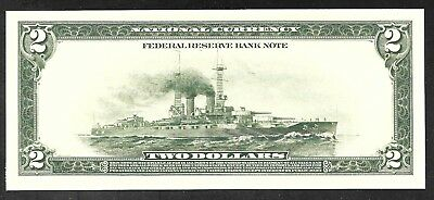 Proof Print by the BEP - 1918 FRN Back - Battleship