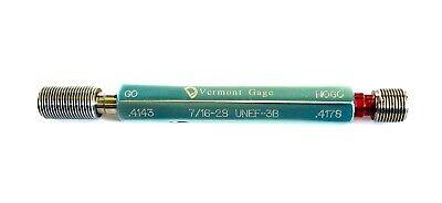 Thread Plug Gage Gonogo 716-28 Unef-3b Gauge By Vermont Gage Usa