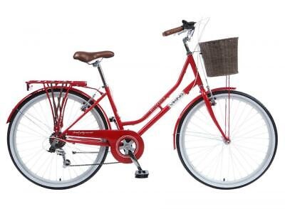 "Viking Belgravia Ladies Heritage Bike Traditional Bicycle 26"" Wheel 6 Speed RED"
