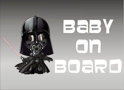 Baby Darth Vader (Darth Vader Baby on Board / Star Wars / Vinyl Kids Vehicle Graphic Decal)