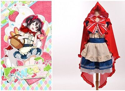 Red Hood Dress Anime Love Live Fairy Story Yazawa Nico Little Cosplay Custumes (Fairy Custumes)
