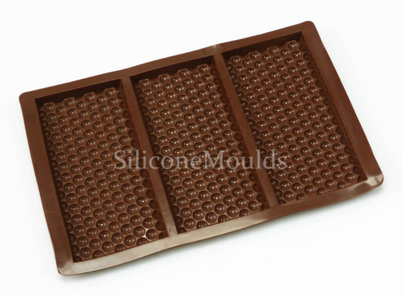 3 cell Bubble Wrap Texture Chocolate Bar Mould Chocolatier Silicone Snap Wax