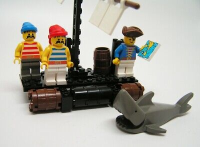 Lego Pirates 1 Castaway's Raft 6257 (1989) - Some pieces missing