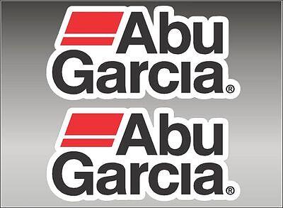 "ABU GARCIA Fishing / PAIR / 6"" Vinyl Vehicle Watercraft Gear Graphic Decals"