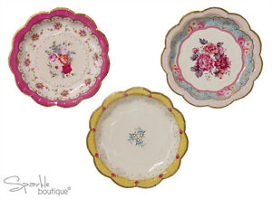 Shabby Chic/Vintage PAPER PLATES-Tea Party-FULL TRULY SCRUMPTIOUS RANGE IN SHOP!