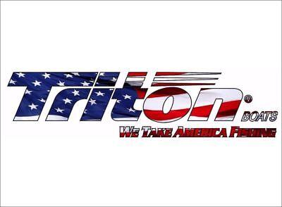 "Triton Boats Logo USA / 42"" Vinyl Vehicle Watercraft Fish Graphic Decal Sticker"