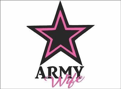 Army Wife Graphics - ARMY Wife, Daughter, Mom, Sister / BLACK / Vinyl Vehicle Military Graphic Decal