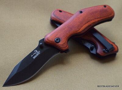 Elk Ridge Pakkawood Handle Spring Assisted Knife W  Pocket Clip   Razor Sharp