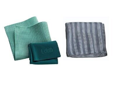 E-Cloth BUNDLE : Window Cleaning Pack, 2-Piece & Stainless Steel Cloth