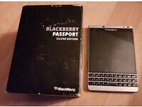 Silver Special Edition Blackberry Passport UNLOCKED