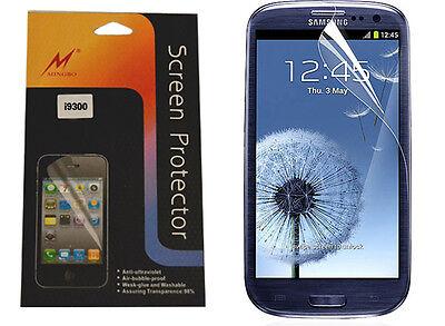 Samsung Galaxy S3 i9300 Display Schutzfolie Screen Protector mit Reinigungstuch  (Samsung S3 Screen Protector)